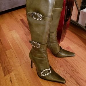 Shoes - GENUINE LEATHER STILETTO BOOTS